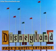 Disneyland Entrance Sign Blow-out! Disneyland Sign, Disneyland World, Vintage Disneyland, Disneyland Christmas, Disney Love, Disney Magic, Disney Art, Disney Stuff, Rain