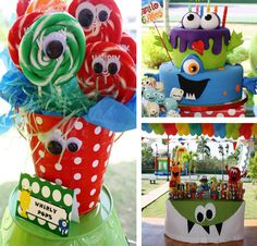 monster party Monsters monster monster Monster Birthday Party with LOTS of GREAT IDEAS via Karas Party Ideas Monster 1st Birthdays, Monster Birthday Parties, Birthday Fun, First Birthday Parties, Birthday Party Themes, First Birthdays, Halloween Birthday, Birthday Ideas, Monster Inc Party