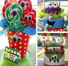 Monstro temático da festa de aniversário via idéias do partido de Kara |. Kara'sPartyIdeas com # monstro # birthday # festa (26)