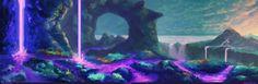 #0036 Follow the Purple, Vadim Pribylov on ArtStation at https://www.artstation.com/artwork/xBnK2