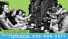 Want to call Congress? Try our new Digital Switchboard @ 202-999-3371. After you call, youll be prompted to enter your zip code, then you can choose an elected official and get transferred to their Washington office. Its easy!