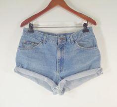 PLUS SIZE High Waisted Denim Shorts  High by TomieHarleneVintage, $20.99