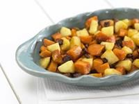 Maple Ginger Sweet Potatoes with Apples