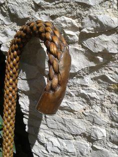 Antique Walking Stick - French - Braided Wicker w Copper Pommel… Wooden Walking Sticks, Walking Sticks And Canes, Walking Canes, Just Keep Walking, Walking Staff, Dandy, Cane Stick, Wooden Canes, Cannes