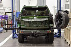Силовой обвес Toyota Land Cruiser Prado 150 задний бампер, калитка