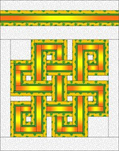 Celtic knot quilt pattern on etsy/craftsy