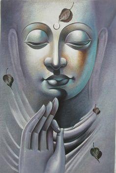 Mahanirvana 03 - 24in X 36in,RAJVEN06_2436,Acrylic Colors,Peace,Buddha,Shanti,Meditation,Buddhism - Buy Paintings online in India