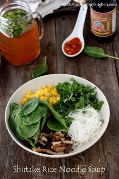 Shiitake and shirataki noodle soup