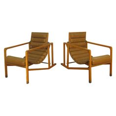 "Pair Eileen Gray ""Transat"" Chairs 