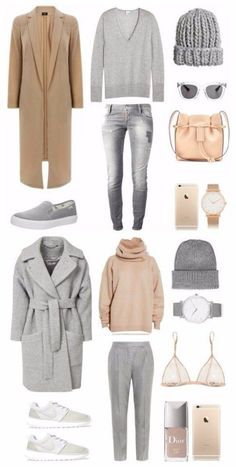 new Ideas travel outfit winter weekend casual Capsule Outfits, Komplette Outfits, Fashion Capsule, Capsule Wardrobe, Fashion Outfits, Travel Outfits, Fashion Clothes, Fall Winter Outfits, Autumn Winter Fashion