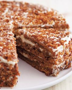 This carrot and walnut cake recipe has a nice mixture of spices and tasty ingredients. Carrot And Walnut Cake Recipe from Grandmothers Kitchen. Pie Cake, No Bake Cake, Food Cakes, Cupcake Cakes, Carrot And Walnut Cake, Just Desserts, Dessert Recipes, Layer Cake Recipes, Sweet Cakes