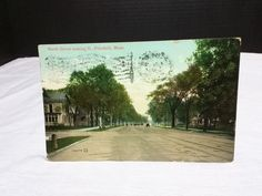 North Street, Pittsfield, MA., Pub: Valentinte and Sons, Dated 5/19 1909 STAMP