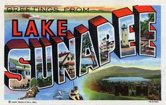 Greetings from Lake Sunapee, New Hampshire - Large Letter Postcard by Shook Photos, via Flickr