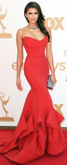 Nina Dobrev at the 2011 Emmy Awards    if only i still competed.. love this!