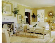 Cute And Inspiring Living Room Design With Yellow Walls Ideas - Yellow And Grey Living Room Walls - Mustard Yellow Living Room Walls - Mitara. Yellow Family Rooms, Yellow Walls Living Room, Paint Colors For Living Room, My Living Room, Green Rooms, Showers Interior, Interior Design Living Room, Living Room Designs, Feng Shui