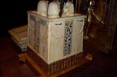 canopic jars of  Tutankhamon - from the Frankfurt  exhibition