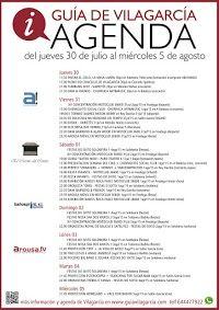 AGENDA SEMANAL DE VILAGARCÍA (30jul-5ago)