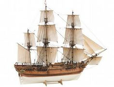 The Billings HMS Bounty wooden ship model is a realistic recreation of the real life armed merchant vessel launched in 1787.