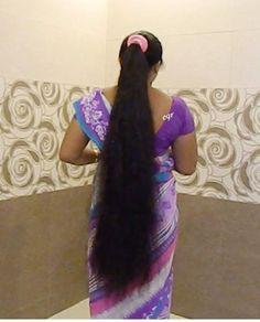Long Hair Ponytail, Bun Hairstyles For Long Hair, Braids For Long Hair, Indian Hairstyles, Long Silky Hair, Very Long Hair, Cut My Hair, Big Hair, Long Indian Hair