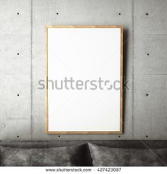 3d rendering of frame on wall