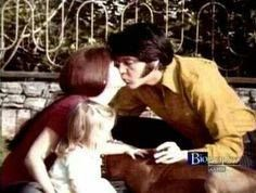 This sweet pic of Priscilla, Lisa Marie and Elvis Presley with their family dog Brutus was taken in the yard of their house at 1174 Hillcrest Road in Beverly Hills, CA on Saturday, March 29, 1969. See another photo: https://de.pinterest.com/pin/380906080965397102/