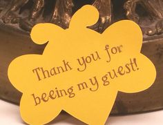 Thank you for being my guest bumble bee tags or card inserts baby shower birthday party favor wedding anniversary
