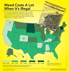 #Infographic from The Huffington Post: Here's Where To Find The Cheapest Weed In The U.S.
