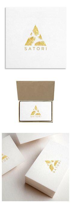 Branding #illustration | Golden Palm Illustration Logo Template $19.00