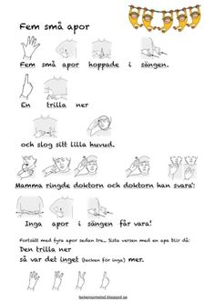 Tecken som stöd Speech Language Therapy, Speech And Language, Kids Barn, Learn Swedish, Swedish Language, Baby Sign Language, Teacher Hacks, Special Education, Teaching Resources