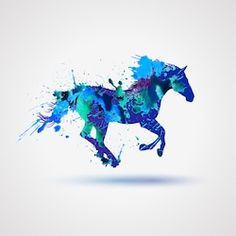 Find Vector Sign Silhouette Horse Watercolor Splashes stock images in HD and millions of other royalty-free stock photos, illustrations and vectors in the Shutterstock collection. Thousands of new, high-quality pictures added every day. Watercolor Horse, Watercolor Logo, Watercolor Animals, Watercolor Images, Watercolor Ideas, Derby Horse, Horse Artwork, Horse Logo, Horse Silhouette