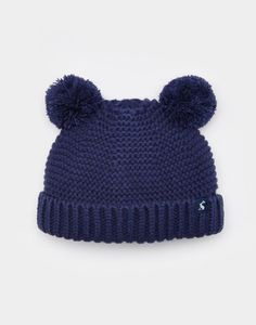 Can we just talk about how cute this hat is?! Adorable! • Joules Baby Boys Knitted Pom Pom Hat