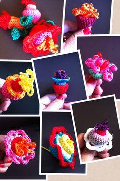 Minhas flores de crochê !