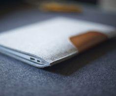 Fancy - Wool Felt & Leather MacBook Air Sleeve