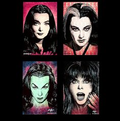 Prints 11x17  Scream Queens  Moririca Addams Lily by chuckhodi, $50.00