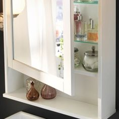 get ready for a beautiful day with a hemnes shallow mirror cabinet that holds all your beauty secrets and lamps at eye level so you can get the best light