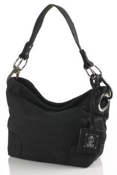 Apparel: Noble Mount Simple Classic Everyday Hobo/Handbag - Black