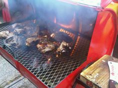 Street food in Jamaica- Pan chicken served hot with a side of hardough bread, festival or even breadfruit #tasteJamaica