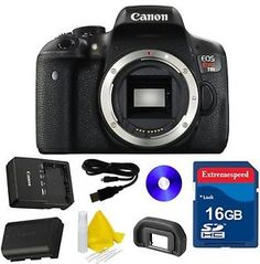 Canon EOS Rebel T6i 24.2MP Digital SLR Camera Body Only with 16GB Memory Card http://ift.tt/28RrnpX
