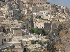 """Matera is a city and a province in the region of Basilicata, Italy.The town lies in a small canyon, which has been eroded in the course of years by a small stream, the Gravina. Known as """"la Città Sotterranea"""" (the Subterranean City), Matera is one of the oldest inhabited cities in the world[2] and is well known for its historical center called """"Sassi"""", considered World Heritage Site by UNESCO since 1993, along with the Park of the Rupestrian Churches."""
