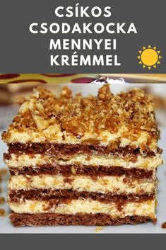 Hungarian Cake, Hungarian Recipes, Homemade Sweets, Homemade Cookies, Sweet Recipes, Cake Recipes, Dessert Recipes, Kfc, Pavlova