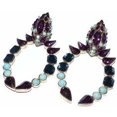 depot vente de luxe en ligne - Luxury eshop online ROBERTO CAVALLI boucles oreilles creoles occasion pierres multicolores   TendanceShopping.com