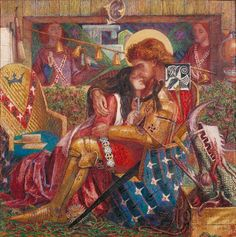 Above: Dante Gabriel Rossetti's The Wedding of St George and Princess Sabra 1857  Picture: Tate