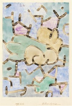 HÖHEN-GRENZE  By Paul Klee    Medium: watercolor on paper laid down by the artist on paper  Creation Date: 1939