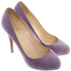 Pre-owned pumps in Violet