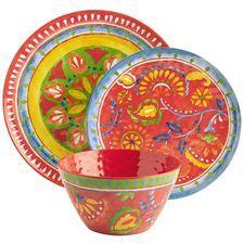Carnival Brights Melamine Dinnerware