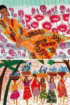 Pattern mixing #illustration by Roeqiya Fris