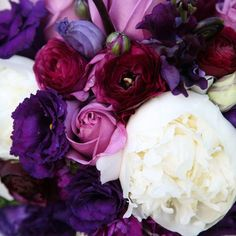 The bride's inspiration for the wedding stemmed from European gardens. We love the deep purple roses, gladiolas, and peonies! Image Credit: Brett Alison Photography    - See more at: http://inblissweddings.com/real-weddings/story/jo_and_mark/201#sthash.zFoaPTIX.dpuf