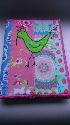 Embroidered bird notebook  £9.50