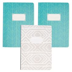 Set Of 3 Paperback Flex 240pg Softcover Journals By C.R. Gibson Dot Grid Notebook, Writing Notebook, Small Notebook, Cute School Supplies, Office Supplies, Diary For Girls, Back To School Deals, Kawaii Pens, Book Journal