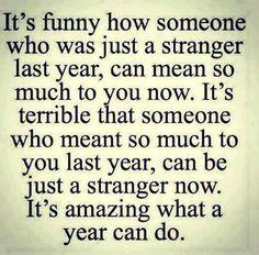 Life is strange...